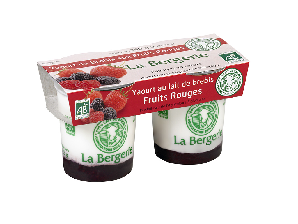 Yaourt fruit rouge brebis