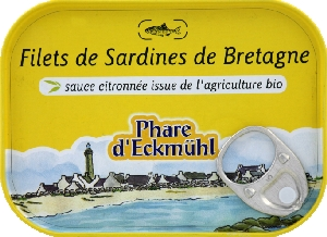 Sardines filets sauce citron
