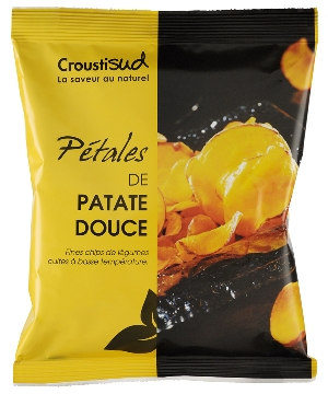 Chips pétales de patate douce