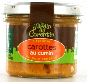 Tartinable carotte cumin