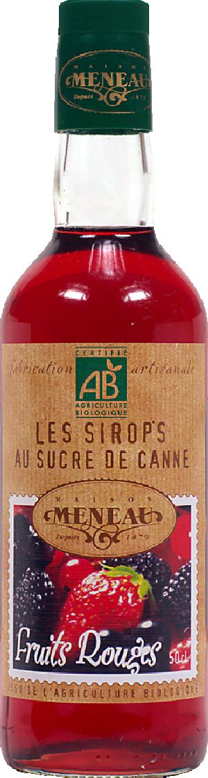 Sirop de fruit rouge