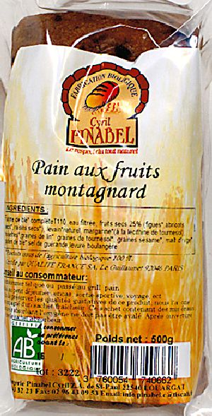Pain aux fruits montagnard